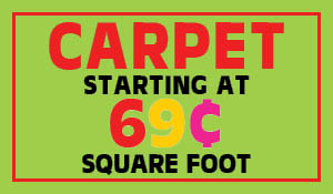 Carpet starting at 69¢ sq.ft. during the end of summer sale at Indianapolis Floors To Go!