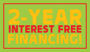 2 year interest free financing w.a.c. during the end of summer sale at Indianapolis Floors To Go!  20% down payment required.  Minimum purchase of $600.