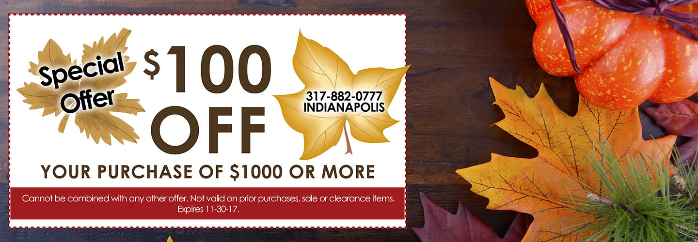 $100 off your purchase of $1000 or more this month at Floors To Go Of Indianapolis