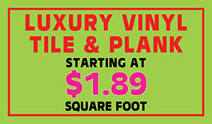 Luxury vinyl tile & plank starting at $1.89 sq.ft. during the End of Summer Sale at Floors To Go of Indianapolis