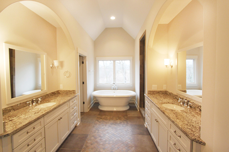 Custom bathroom tile project by Floors To Go of Indianapolis
