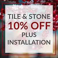Save up to 10% off Tile & Stone Flooring during our Home for the Holidays Flooring Sale at Floors to Go of Indianapolis, IN
