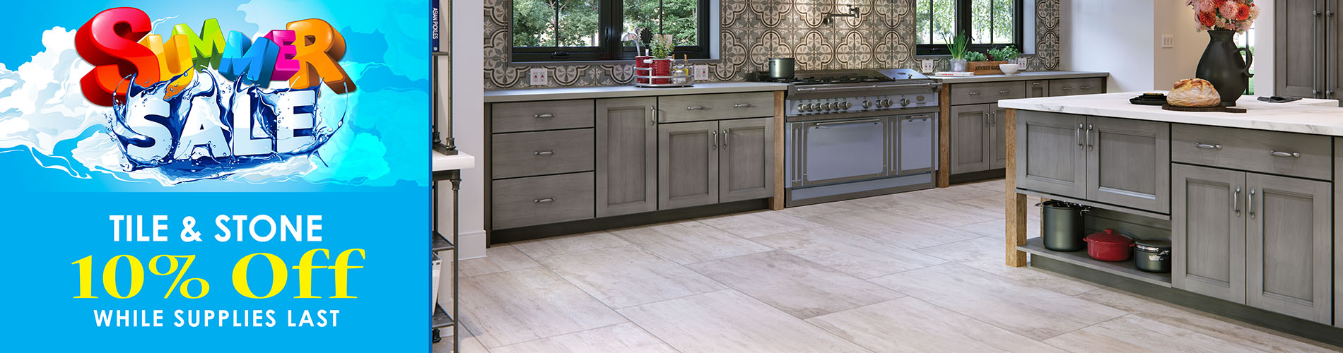 10% OFF TILE & STONE