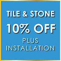 10% off tile and stone during our New Year New Floor sale. Many styles and colors are available