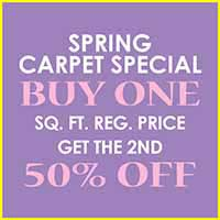 Buy one sq.ft. of Carpet get the second 50% off during our Spring Flooring Sale at Floors to Go in Indianapolis