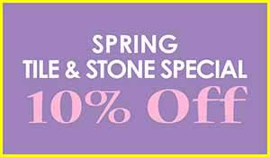 Save 10% off Tile and Stone during our Spring Flooring Sale at Floors to Go in Indianapolis